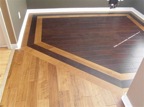 Hardwood Floor Borders Ideas Hardwood Border Design Idea For Combining Two Different Woods Remodel Pictures