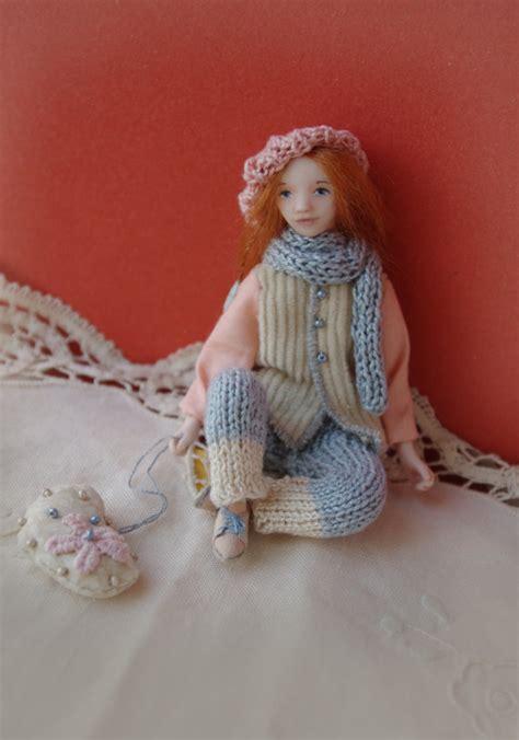 Handmade Clay Dolls - handmade miniature doll ooak tiny doll