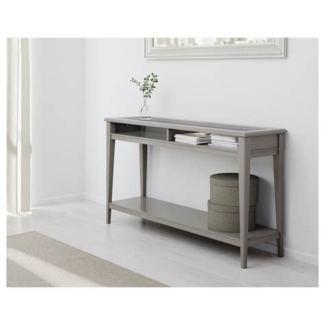 Liatorp Console Table Grey Glass 133x37 Cm Ikea Console Sofa Tables