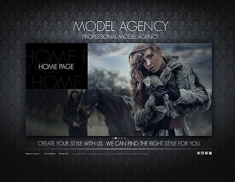 Model Agency Dynamic Flash Template Model Agency Template