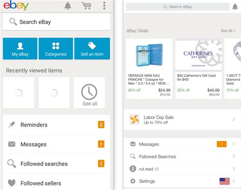 ios app for android ebay simplifies its ios and android mobile app in