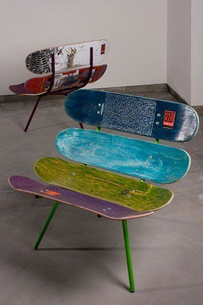 skateboard bedroom furniture cool diy skateboard chair recycle diy ideas