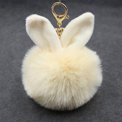 Rabbit Chain 1 pom pom rabbit key chain rabbit ears key chain