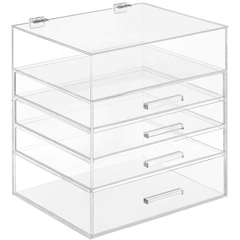 acrylic desk with drawers acrylic desk organizer best home design 2018