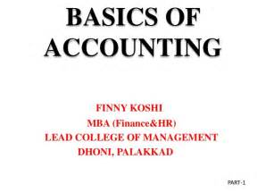 Finance Basics For Mba by Basics Of Accounting 1