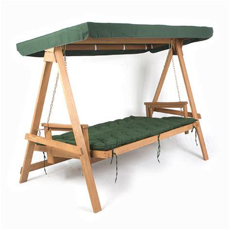 Greenfingers Loreto 3 Seater Swing Seat Green On Sale