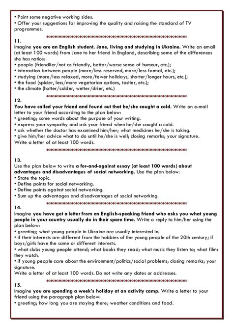 Formal Letter Zno writing 20 tasks zno