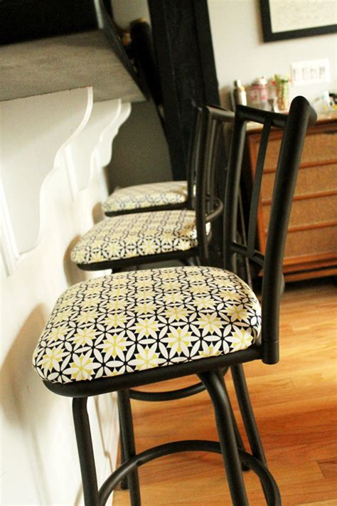 Reupholstering Bar Stools before and after reupholstering bar stools unusually lovely