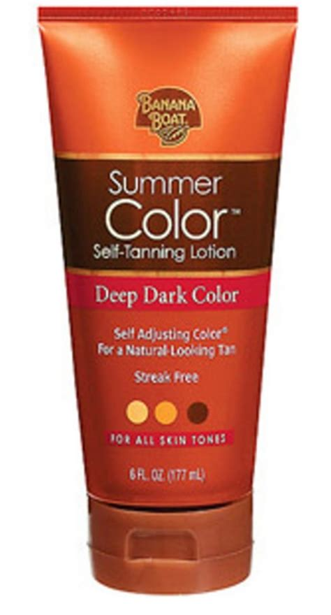 banana boat summer color self tanning lotion medium or