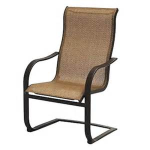 Sling Spring Patio Chairs Patio Master Adh10019k01 Courtyard Classic Bellevue Sling