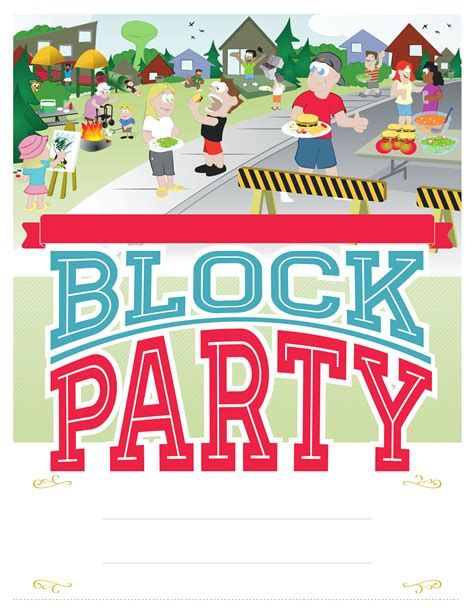 block party poster free download