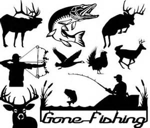 Bow Hunting Window Decals iron shadows game and fish designs for cnc