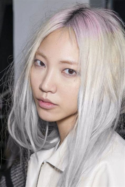 with platinum pink hair 15 surprisingly gorgeous ways to rock colorful roots