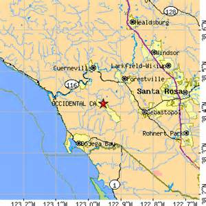 occidental california ca population data races