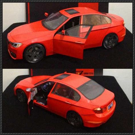 bmw 328i paper car free vehicle paper model