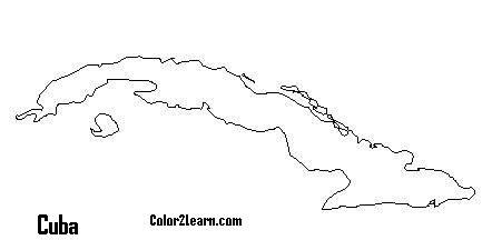 cuba map coloring page