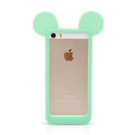 Bumper Iphone 4g 5g fashion 3d mickey mouse ears silicon frame bumper for