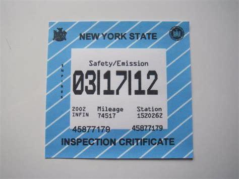 2017 Ny State Inspection Sticker