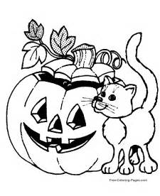 halloween coloring sheets cat jack lantern