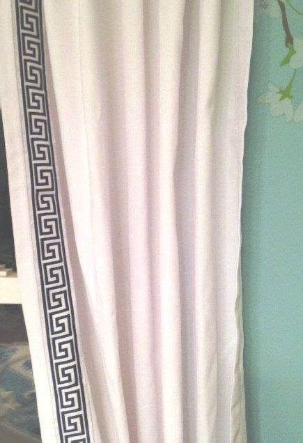 White Curtains With Navy Trim Navy Blue And White Key Trim Curtain By Chesapeakecottage On Etsy Window Treatments
