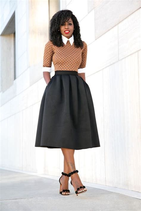 Patterned A Line Midi Skirt how to style a midi skirt for fall 29 ideas styleoholic