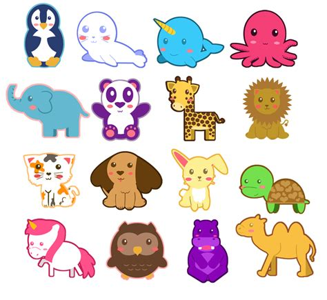 Libra0130 Wall Sticker Colorful Bird animal chibi shape charms by icypanther1 digital chibi digital and doodles