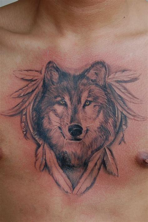 胸部时尚帅气的狼头纹身第4页