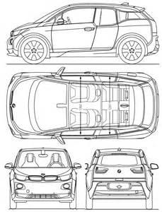 Bmw I3 Dimensions Bmw I3 Blueprint Free Blueprint For 3d Modeling