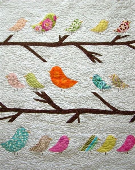 Bird Quilt by Birds Of A Feather Crib Size Quilt