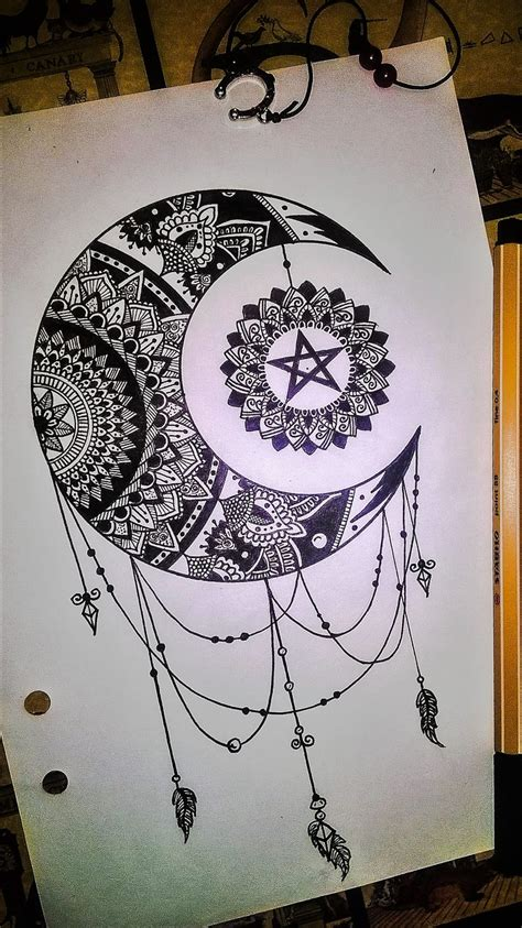 mandala moon tattoo best 25 moon mandala ideas on