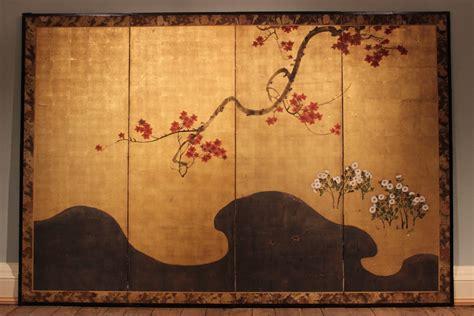 wonderful  century japanese folding screen wall hangings