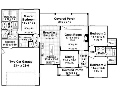 1800 sq ft open floor plans house plan 59182 at familyhomeplans com