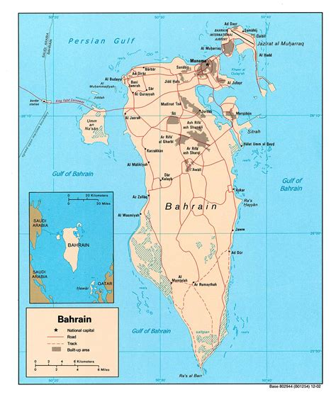 bahrain map with cities middle east bahrain map