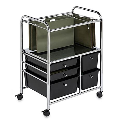rolling bathroom storage cart buy honey can do 174 steel 3 drawer rolling storage cart from bed bath beyond