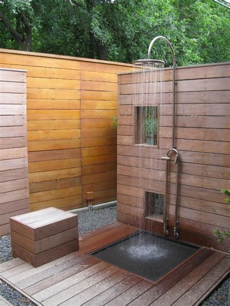 outdoor shower ideas 33 design ideas for wooden and metal outdoor shower enclosures