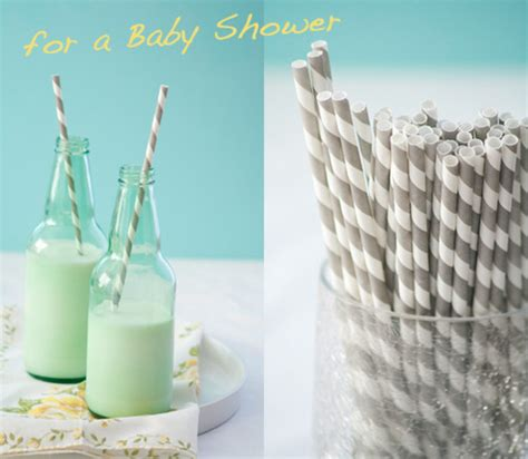 Baby Shower Milk Bottles - paper straws on milk bottles for a baby shower at home with kim vallee