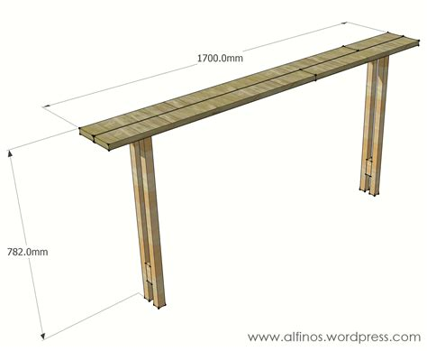 Sofa Table Plans Free Easy Sofa Table Plans Woodideas