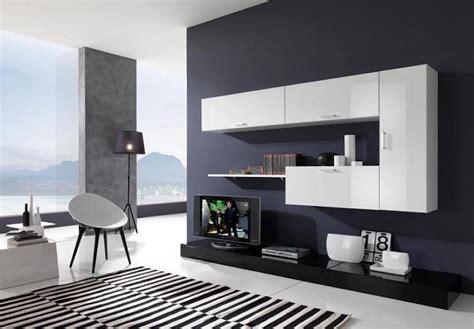 arredamento soggiorno bianco  nero  idee  il design