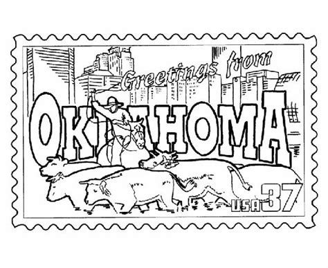 Oklahoma Coloring Page oklahoma free coloring pages