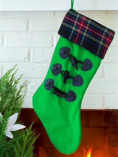 christmas stocking ideas do it yourself christmas stockings hgtv