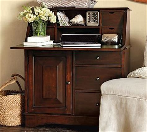 Graham Secretary With Smart Technology Tm Mahogany Stain Pottery Barn Graham Desk