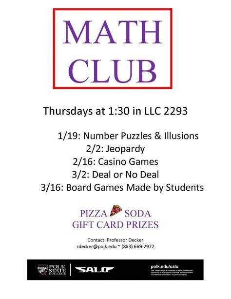Math Club Flyer