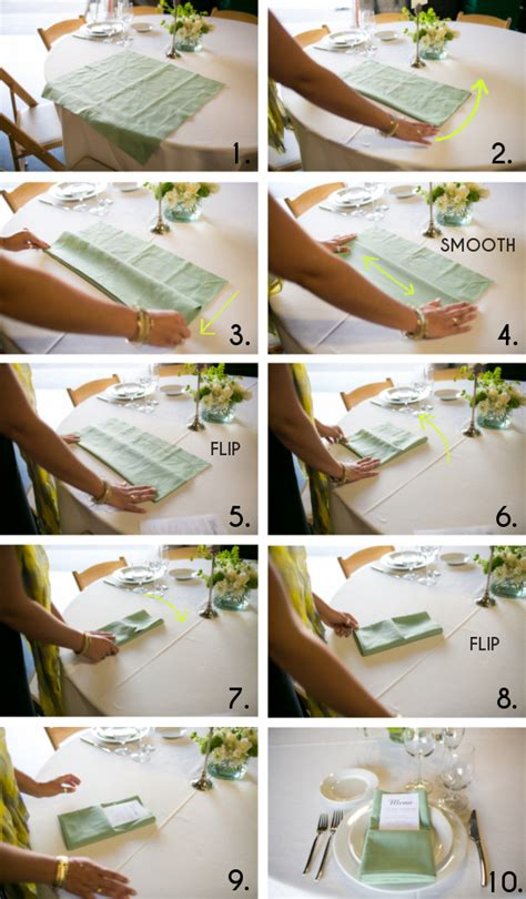 How To Fold Paper Napkins For A Wedding - get sh t done how to set a table