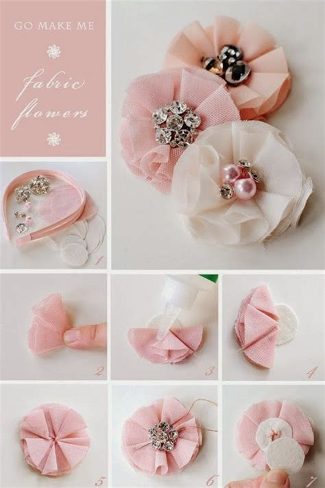 Handmade Fabric Flowers Tutorial - fabriclovers almost no sew fabric flowers tutorials