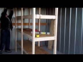 Garage Organization Design build your own wooden garage storage shelves lifehacker