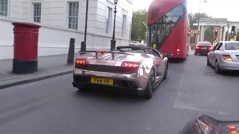 rose gold lamborghini rose gold lamborghini gallardo performante cruising into