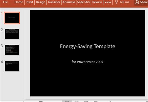 Energy Saving Powerpoint Template Where To Save Powerpoint Templates