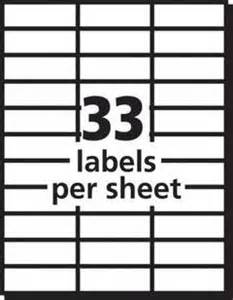 avery white copier address labels 1 x 2 1316 box of 825 by