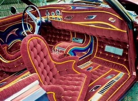 Auto Upholstery School by 10 Lowrider Car Interiors
