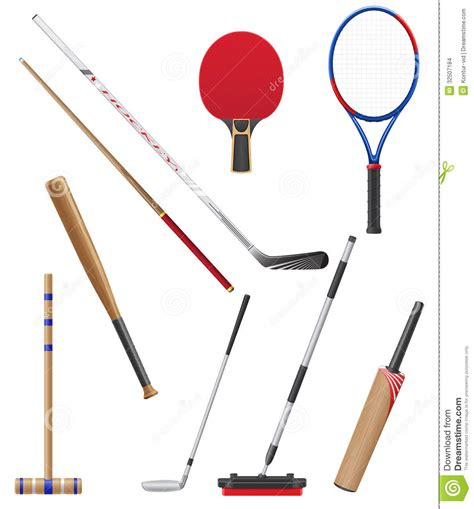 and sticj bits and stick to sports vector illustration stock images